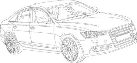 Sports car business class made in the vector Illustration
