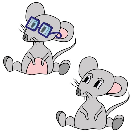 the grey mouse Vector