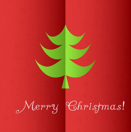 Christmas tree applique vector background. Eps 10 Illustration
