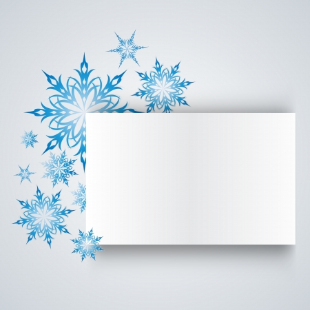 snowflake on a paper background. Vector. EPS 10 Illustration