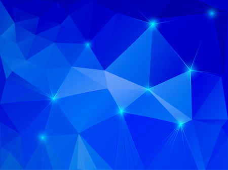 Vector illustration of abstract blue crystal background Illustration