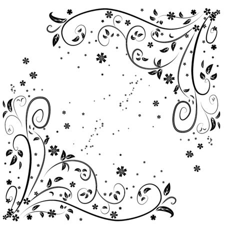 Vector illustration of flower curl pattern