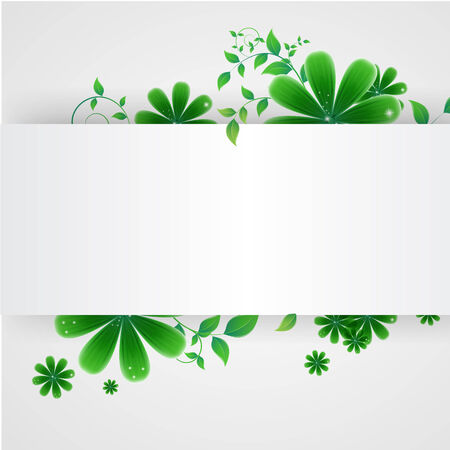 Vector illustration of abstract floral background Illustration