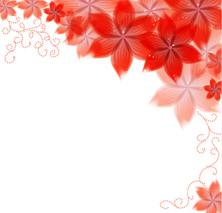 flowers on a paper background