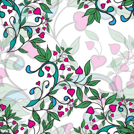 vector illustrator of Hand drawing floral background