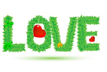 advertiser: amore di foglie verdi Vettoriali