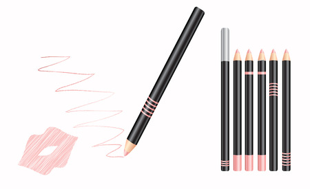 vector illustrator of cosmetic lip liner