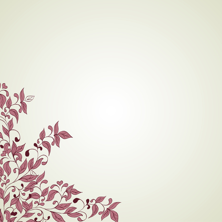 Hand drawing floral background. Element for design photo