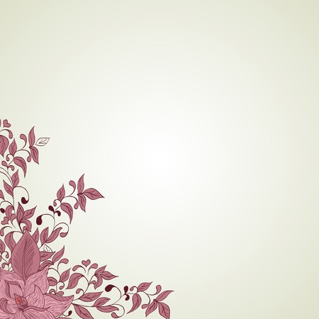 Hand drawing floral background. Element for design