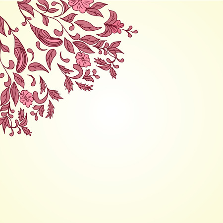 Vector illustration of Hand drawing floral background. Element for design Vector