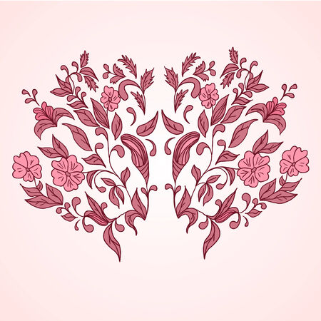 Hand drawing floral background. Element for design Vector