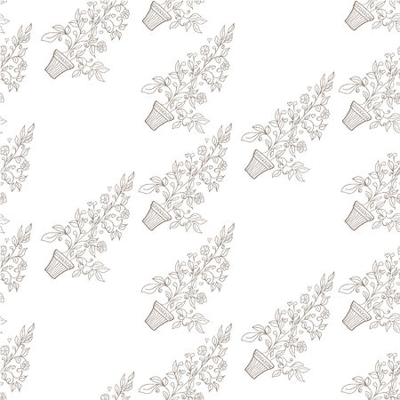Vector illustration of seamless floral background Vector