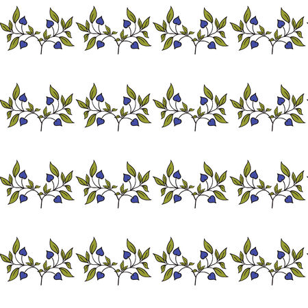 vector illustrator of Hand drawing floral background. Seamless pattern