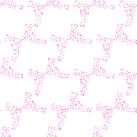 vector illustration of a floral seamless background in pink Vector
