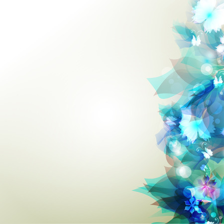 illustration of a Tender background with blue abstract flower