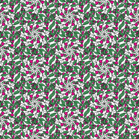 illustrator of Hand drawing floral background. Seamless pattern