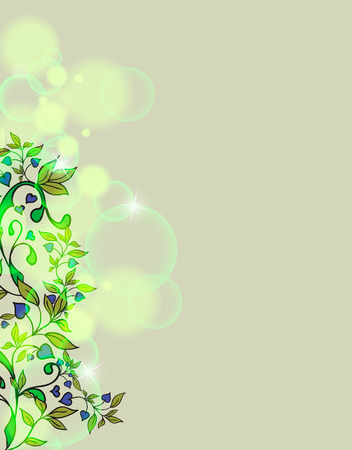 Hand drawing floral background Vector