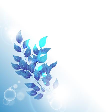 fondo vintage azul: Fondo azul abstracto de la vendimia para el dise�o con hojas