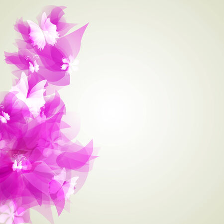 Abstract artistic Background with pink floral element Illustration
