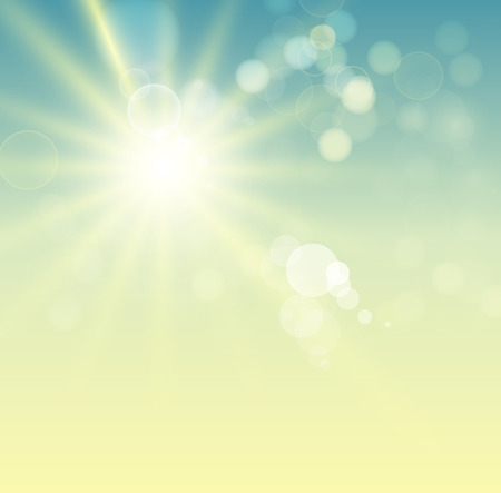 bright: Summer background with bright sun