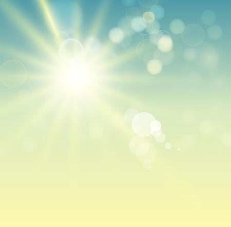 lucero: Verano de fondo con el sol brillante Vectores