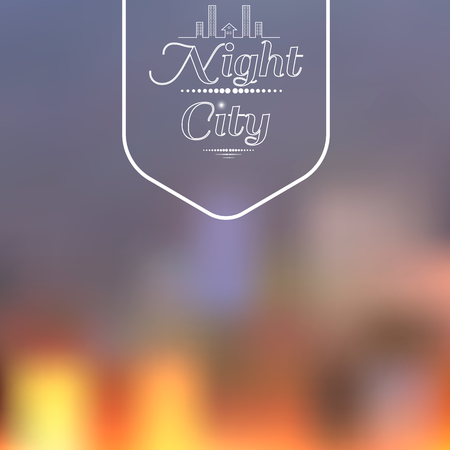 Night city background Vector