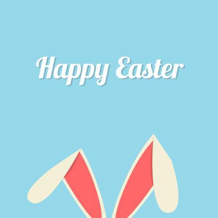 Easter bunny ears card Illustration