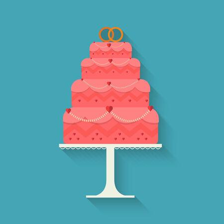 wedding cake: Wedding cake style flat