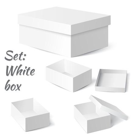 Vector illustration of Set: White box