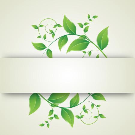 curls: green leaves curls Illustration