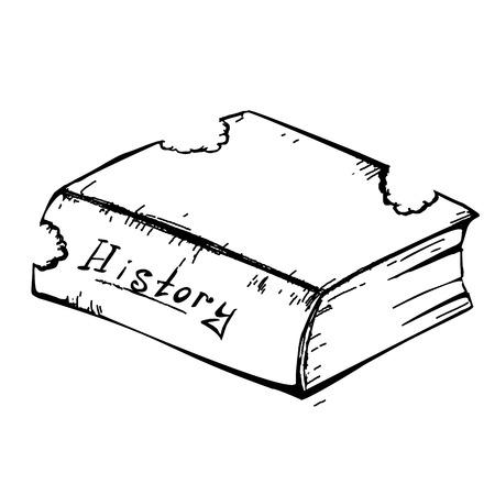 bitten: Libro Bosquejo gusano mordido Vectores