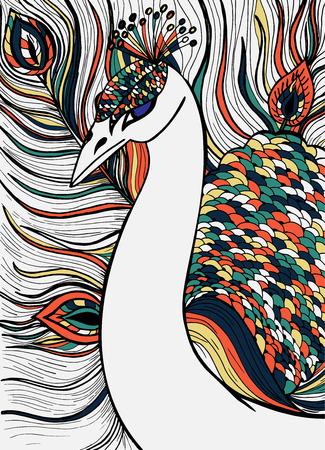 装飾的な装飾用の孔雀