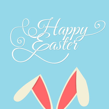 typographical: Happy Easter Typographical Background