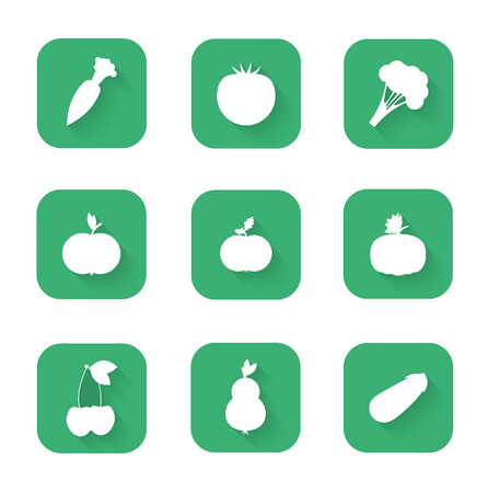 proper: Vector illustration of Modern flat icons - a healthy lifestyle, proper nutrition.
