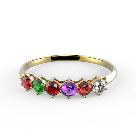 ring ruby: Ring with diamonds. Ring with wishes. 3d digitally rendered illustration