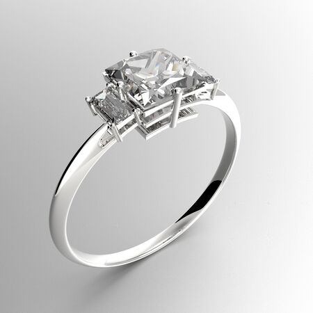 rich couple: Wedding rings with diamonds. Fashion jewelry. 3d digitally rendered illustration