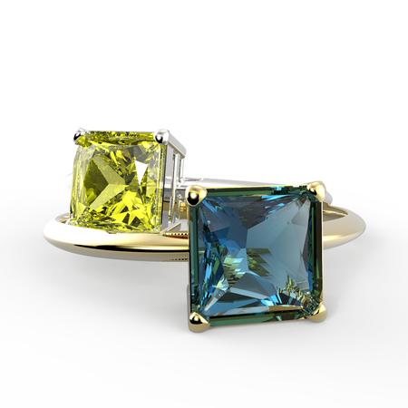 Diamond Rings. Fashion jewelry. 3d digitally rendered illustration Stock Photo