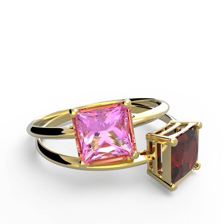 ring ruby: Wedding rings with diamonds. Fashion jewelry. 3d digitally rendered illustration