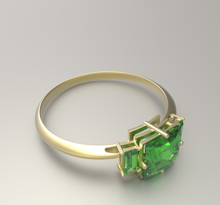 jewelery: Wedding ring with diamond isolated on a white background. Fashion jewelery. 3d digitally rendered illustration
