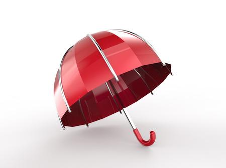Umbrella on a white background. 3d digitally rendered illustration