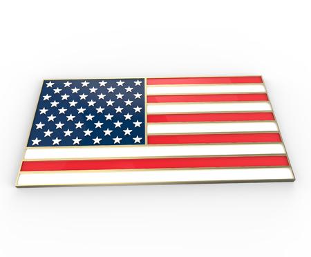 United State of America flag. 3d digitally rendered illustration