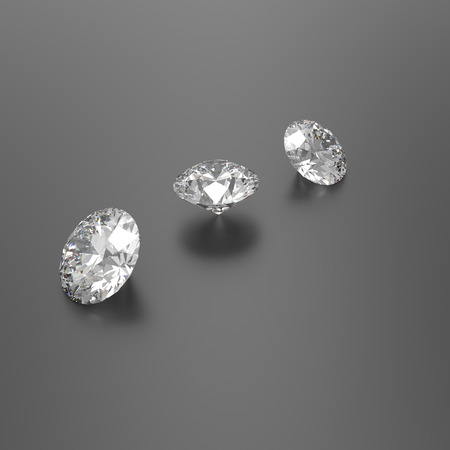 crystalline gold: Diamonds on a black background. 3D rendering Stock Photo