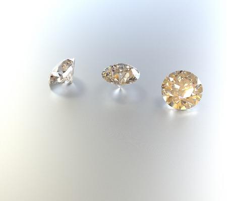 edelstenen: Jewelry background with gemstones. 3D rendering Stockfoto
