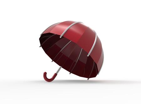 umbel: Umbrella on a white background. 3d digitally rendered illustration