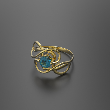 rich couple: Wedding ring with diamond. Stylish Jewelry. 3d digitally rendered illustration
