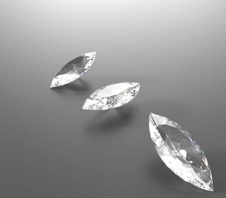 3D rendering with diamonds. Jewelry background. Fashion Jewelry Stock Photo