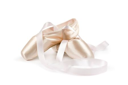 ballet shoes: Ballet shoes on white background