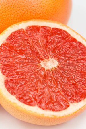 Close-up shot of juicy grapefruit Stock Photo