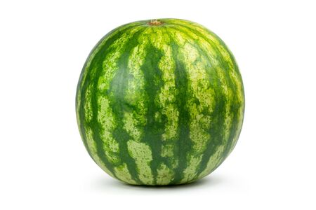 Big water melon. Isolated on white Stock Photo
