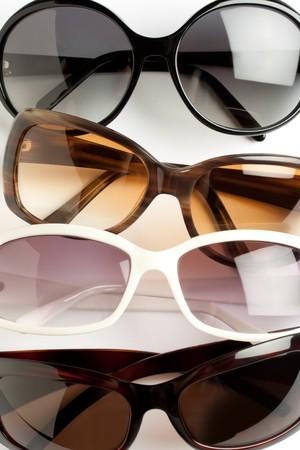 four stylish sunglasses closeup shot Stock Photo